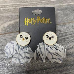 🌈 Harry Potter owl feather earrings